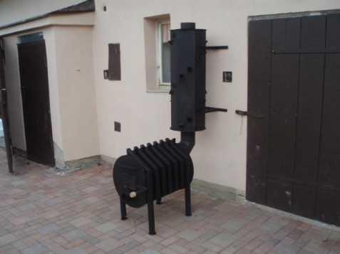 Horkovzdušná kamna na dřevo